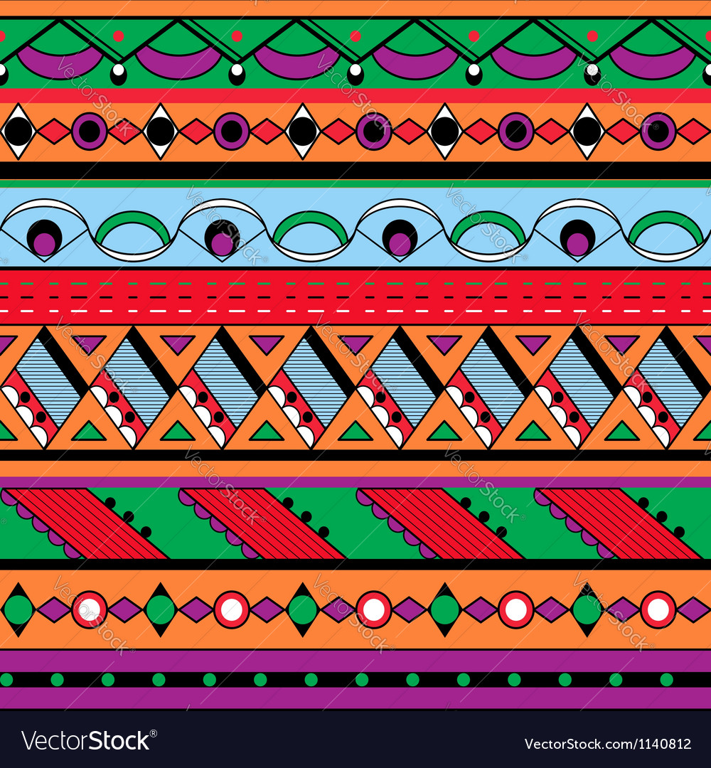 Seamless ethnic background vector