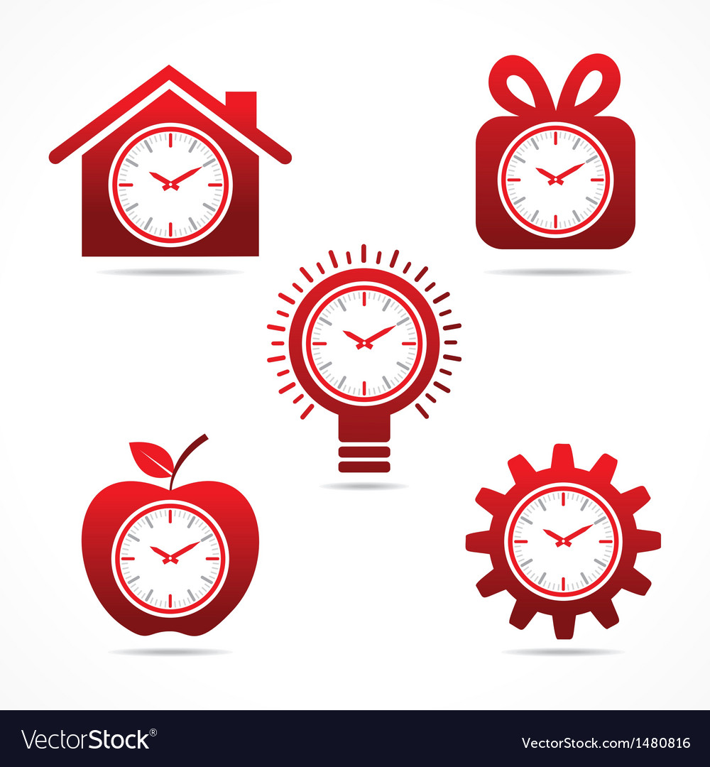 Set Of Clock In Different Shapes Vector Art Download