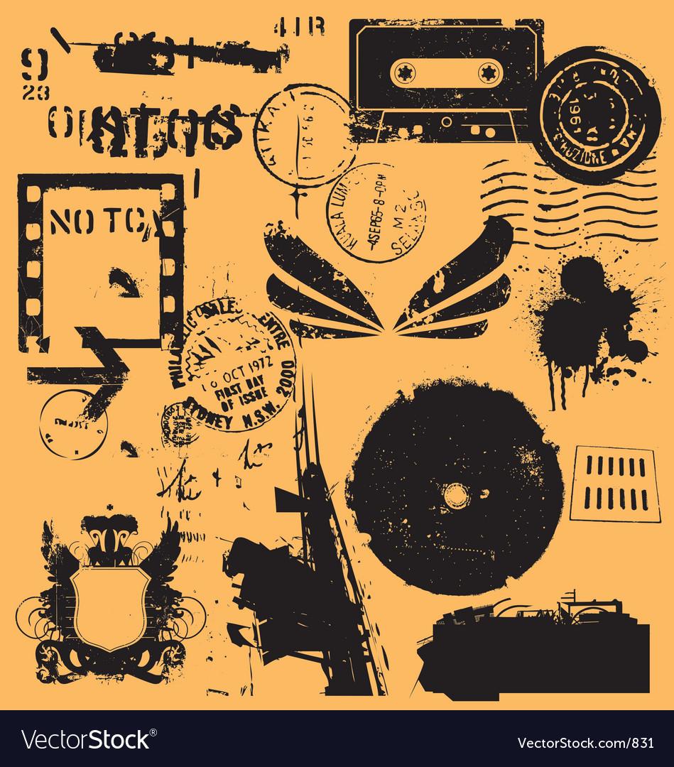 Free grunge elements vector