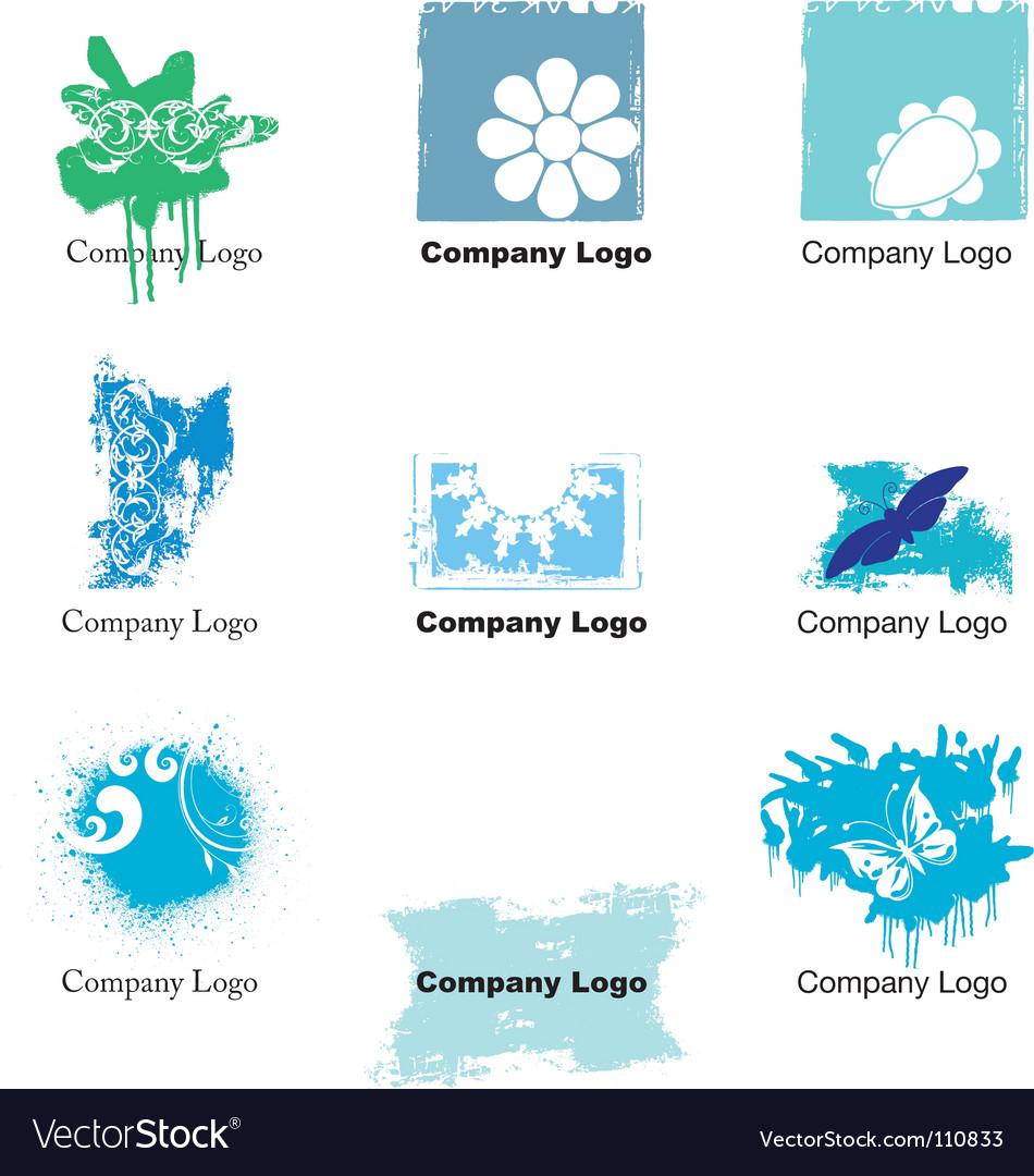 Free grunge logos vector
