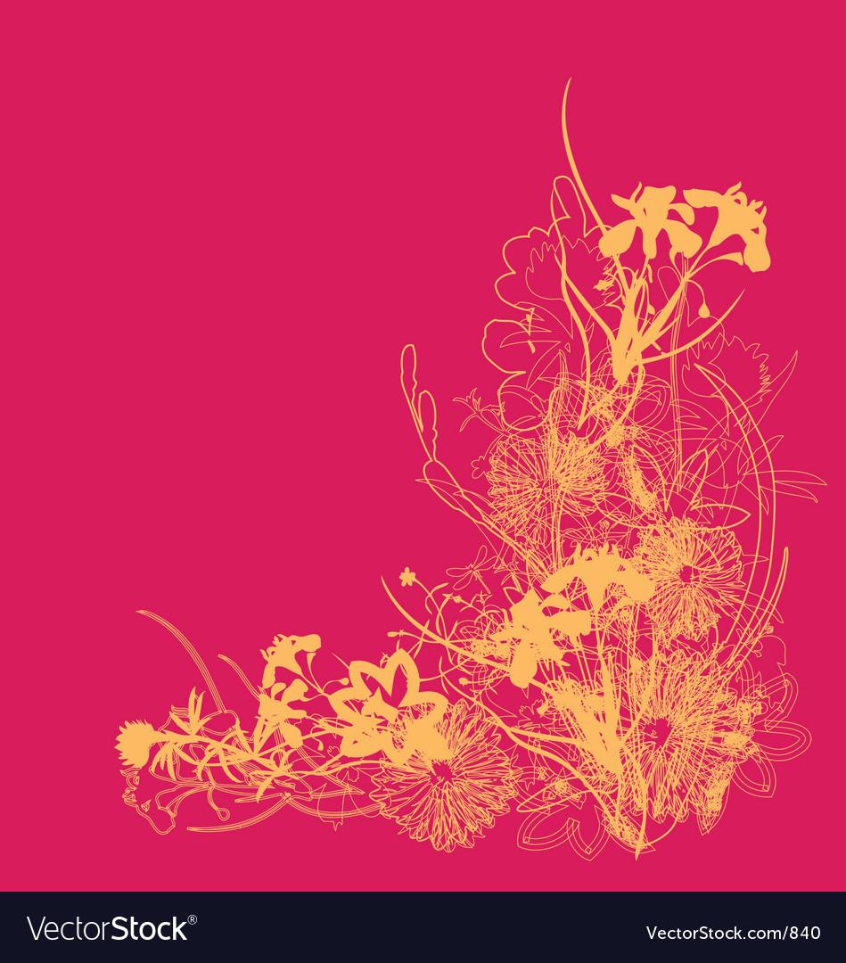 Free floral burst vector