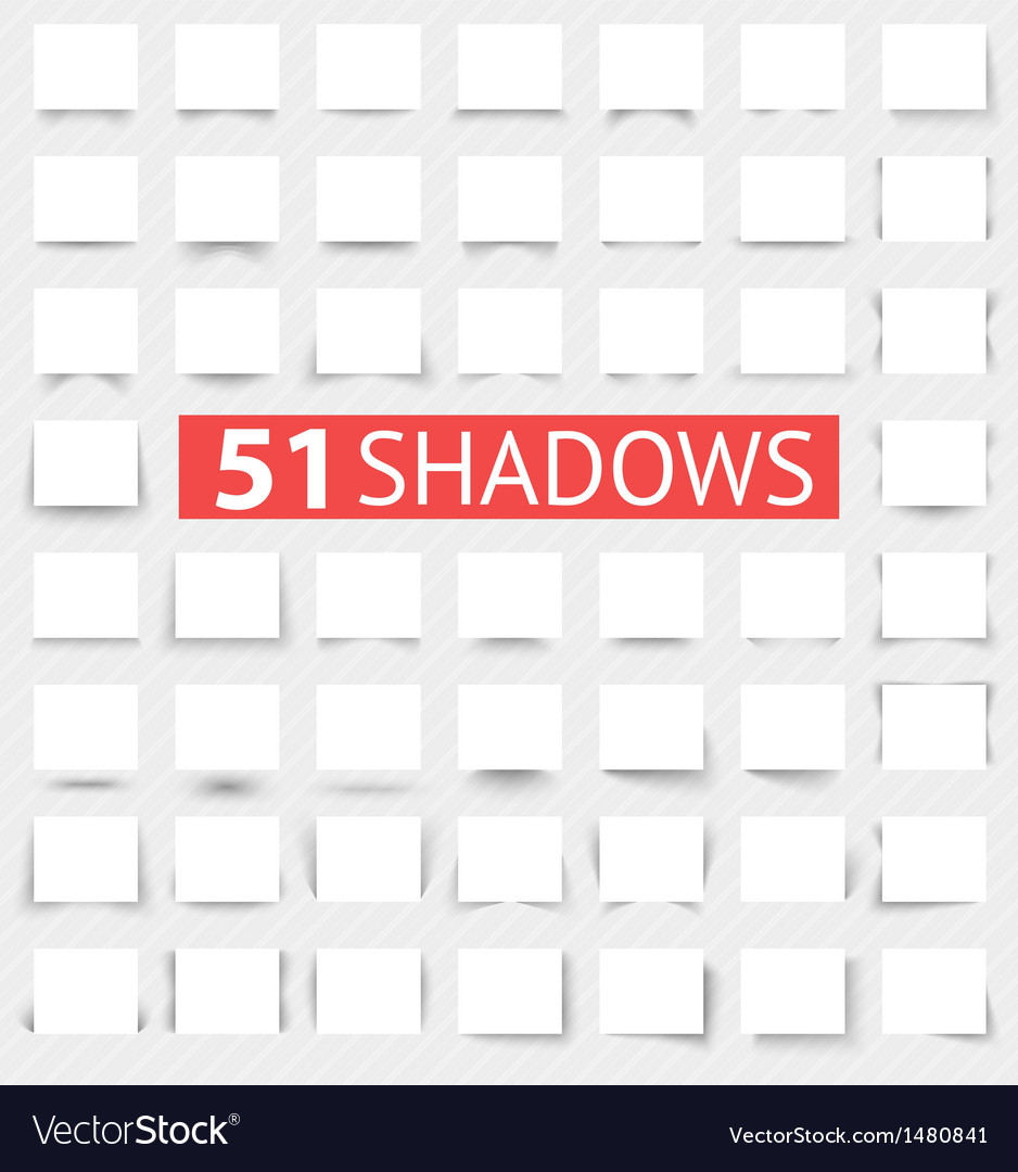 Set of transparent realistic shadow effects vector