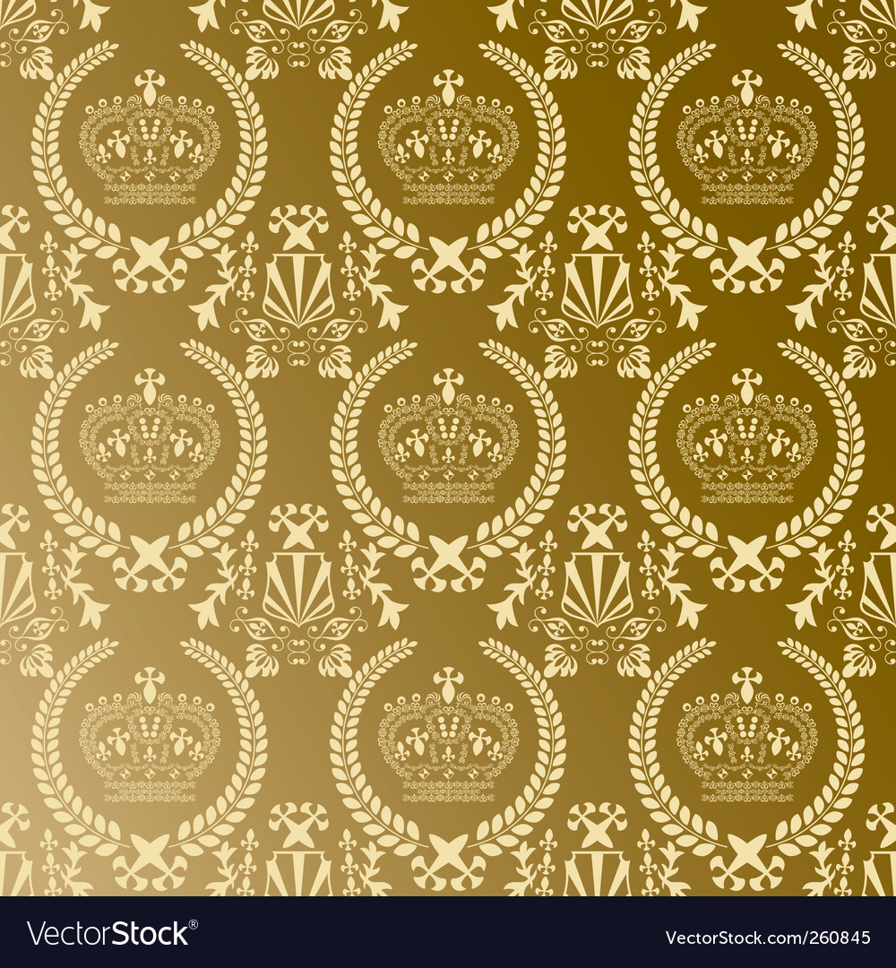 Crown pattern vector