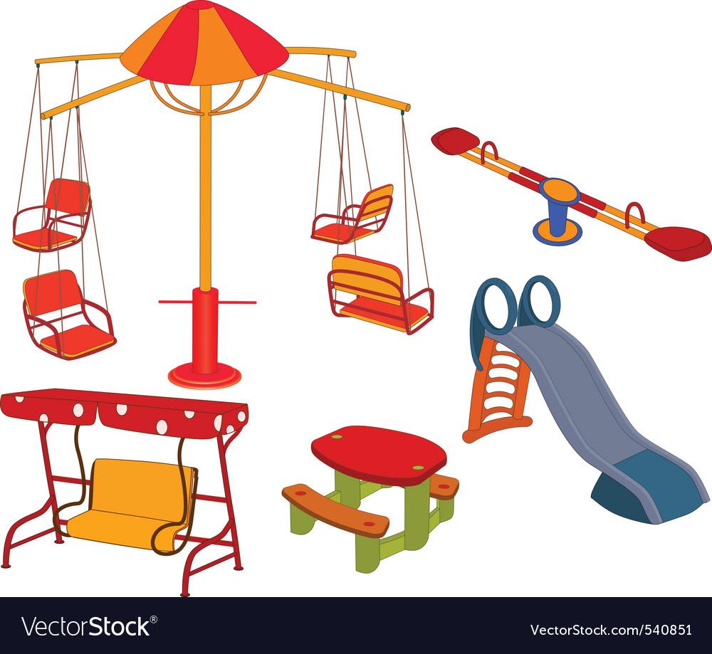 Park playground vector