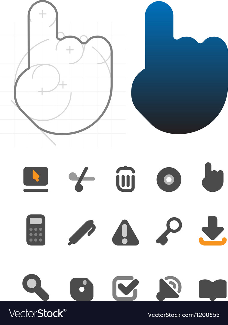 Designers icons for interface vector