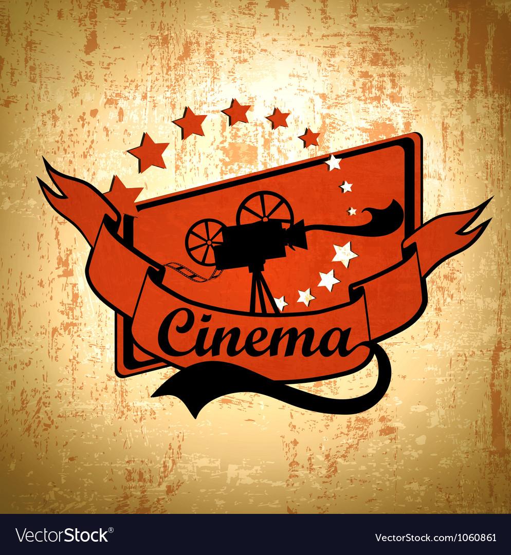 Retro cinema background vector