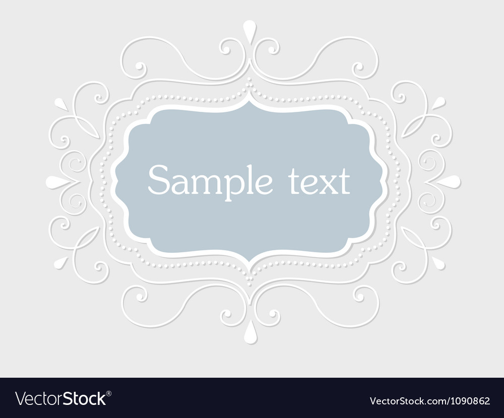 Vintage frame with floral elements vector