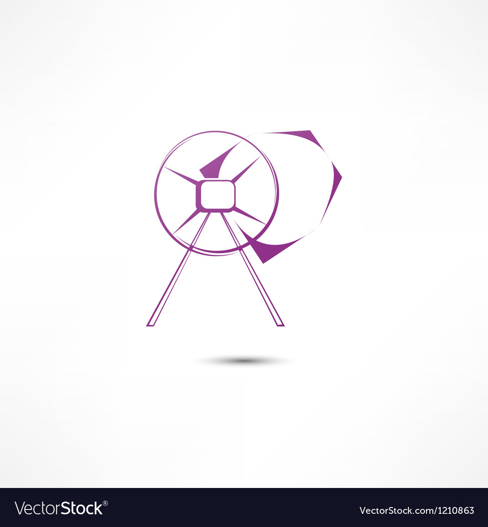Concrete mixer icon vector