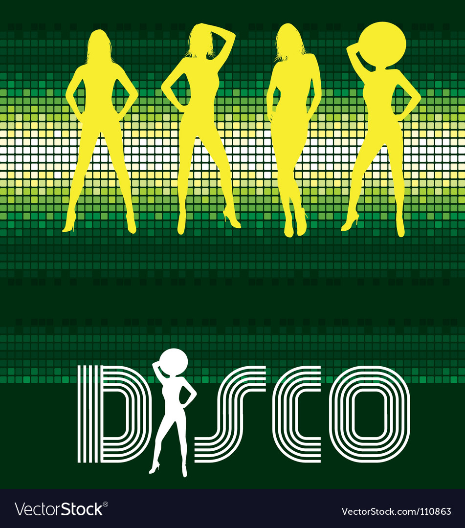 Free disco dancing vector