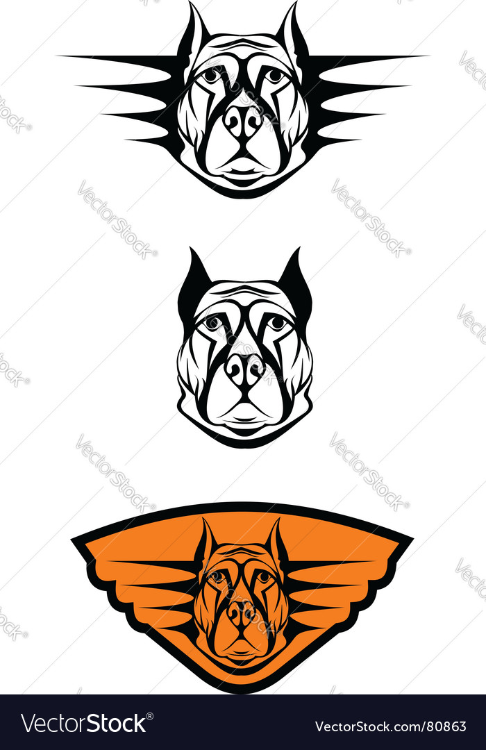 Guard dog symbols vector