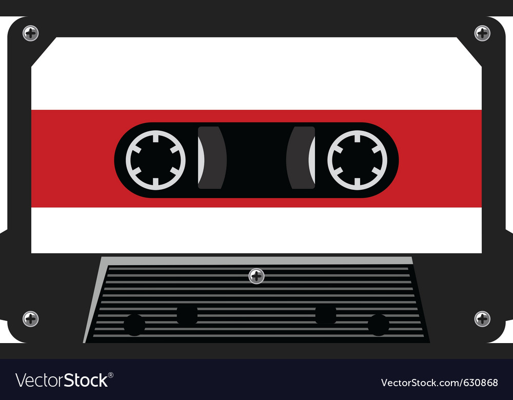 Audio cassette vector