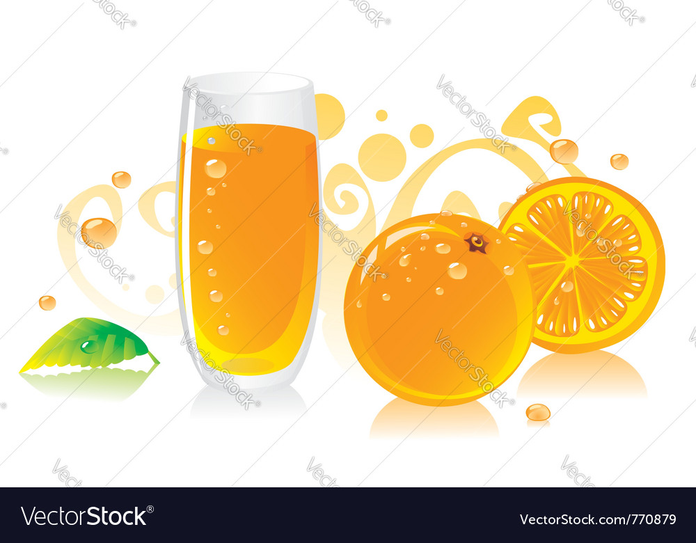 Fresh orange juice vector