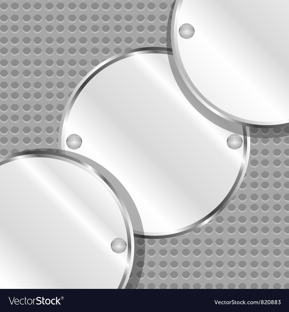 Abstract background with round metal plates vector