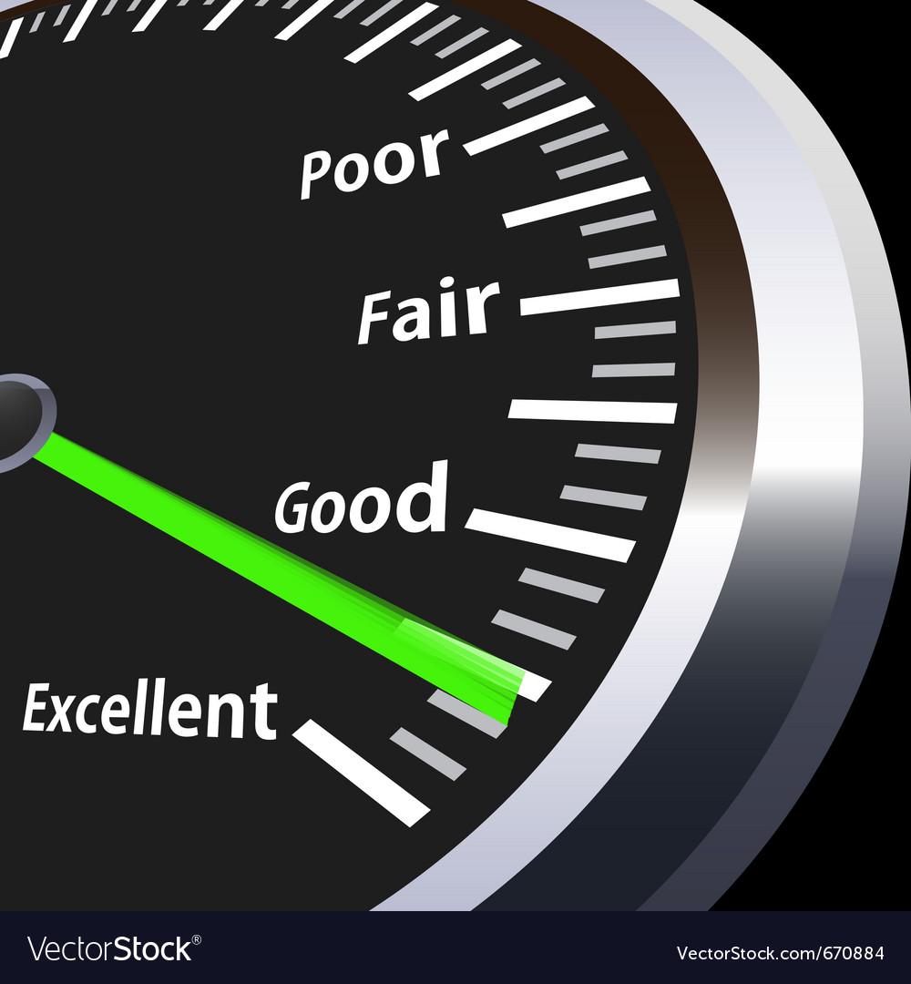 Evaluation speedometer vector