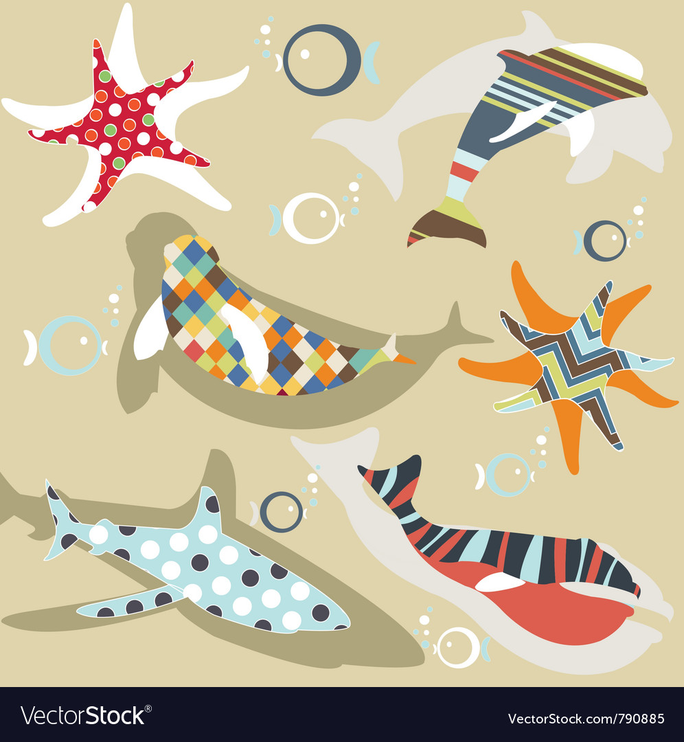 Abstract natural animal pattern vector