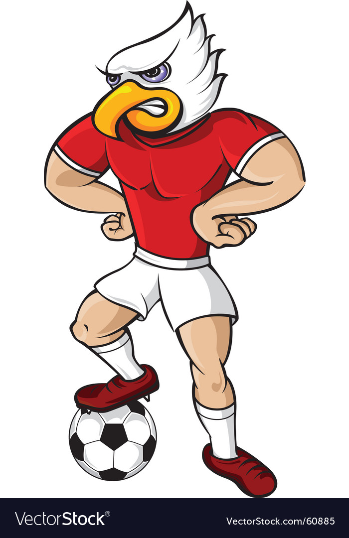 Soccer eagle mascot vector