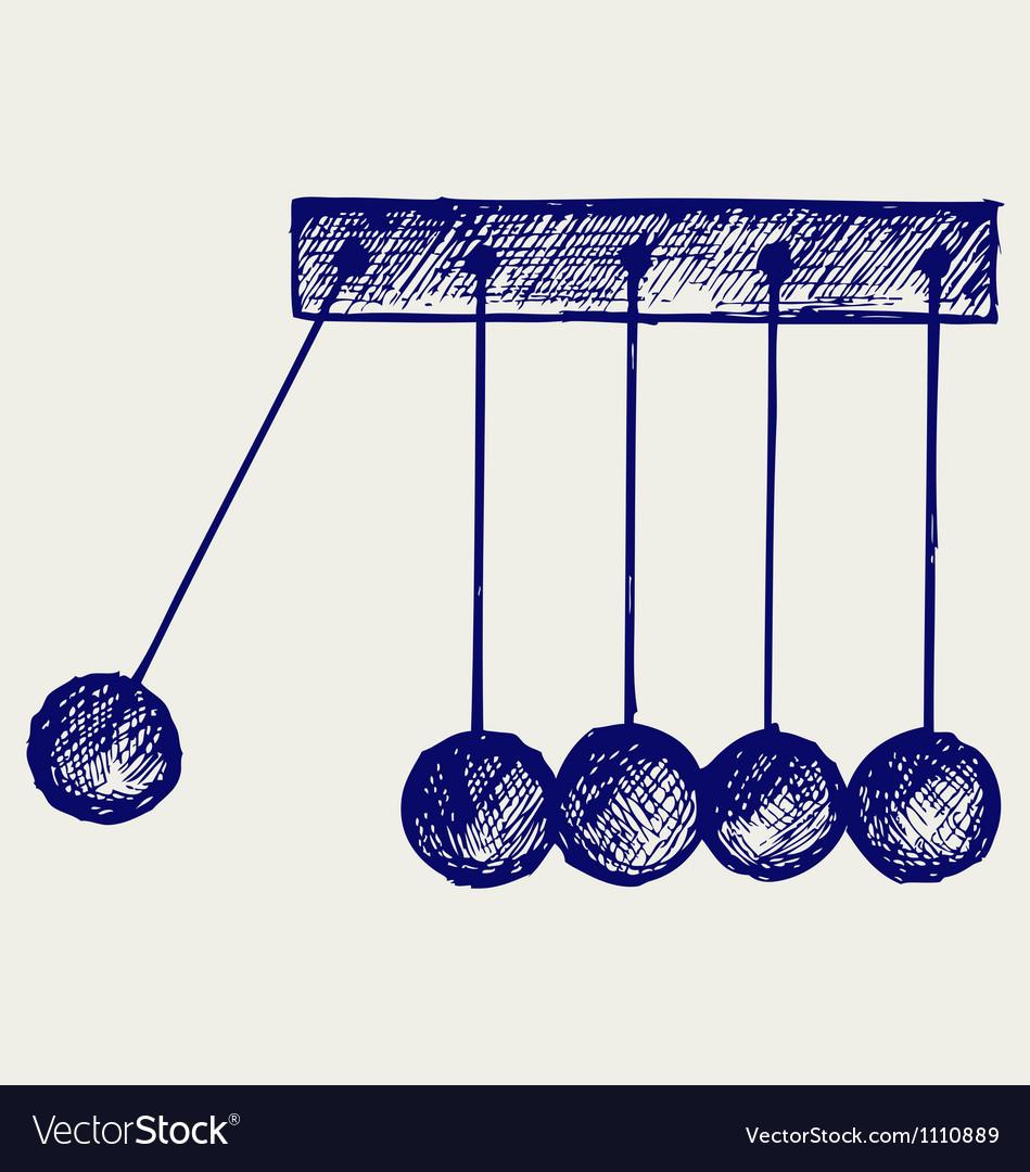 Hanging balls vector