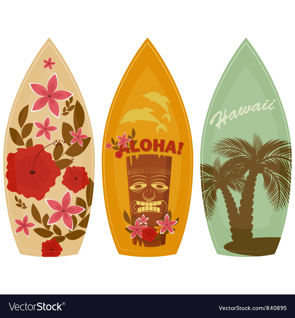 Surfboards vector