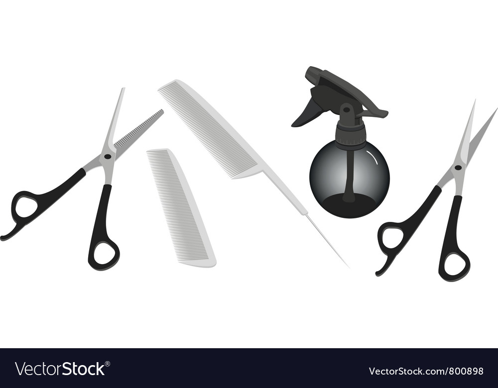 Hairdressing accessories vector