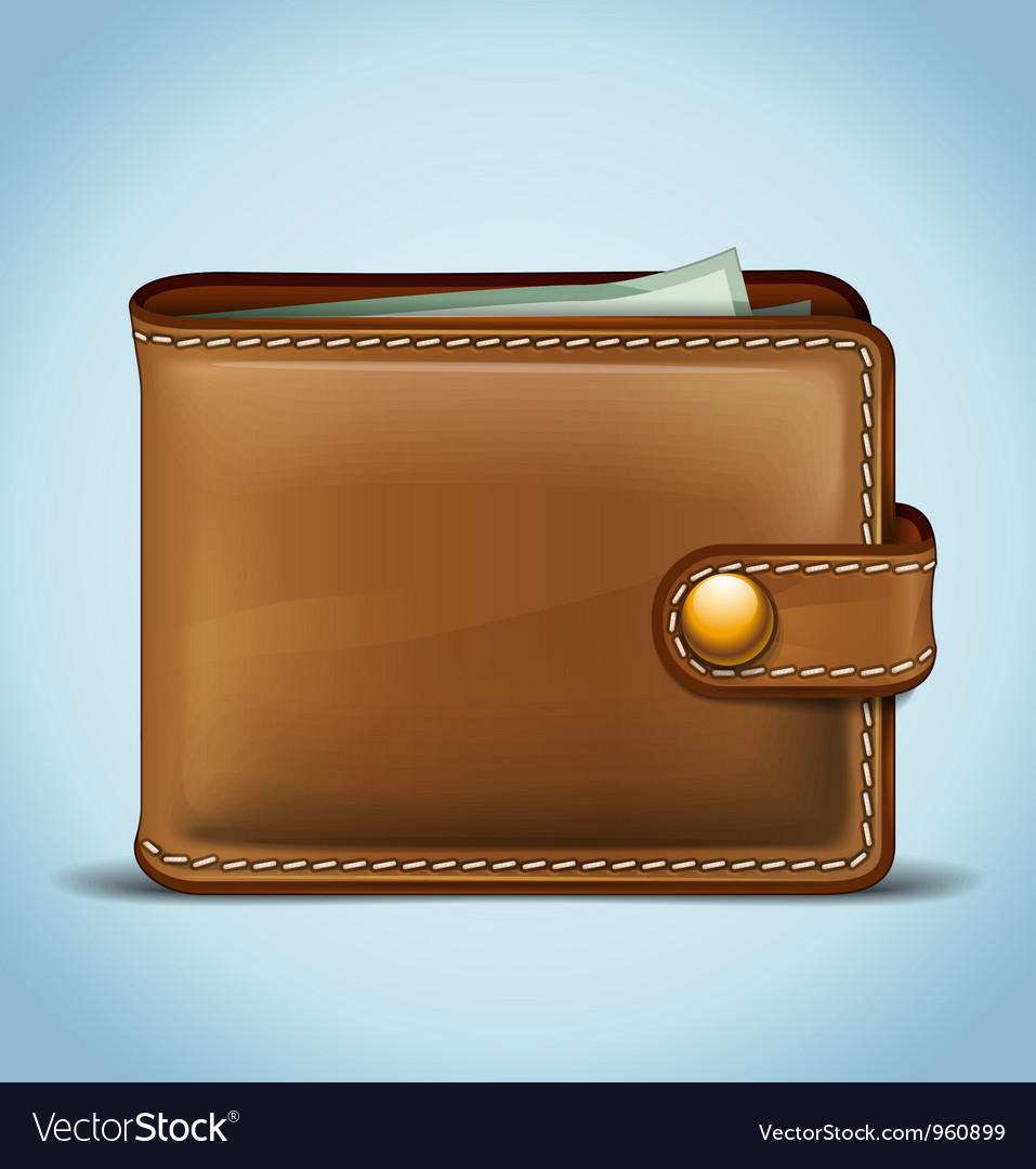 Realistic wallet vector
