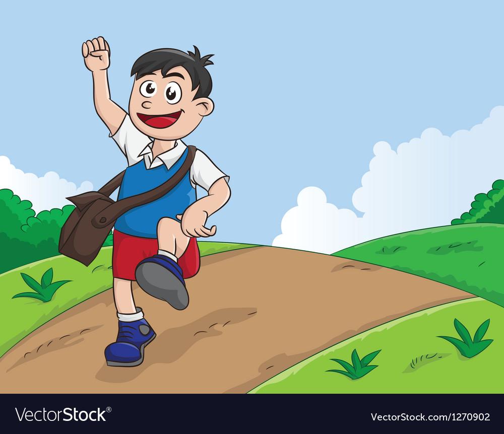 Schooling boy vector