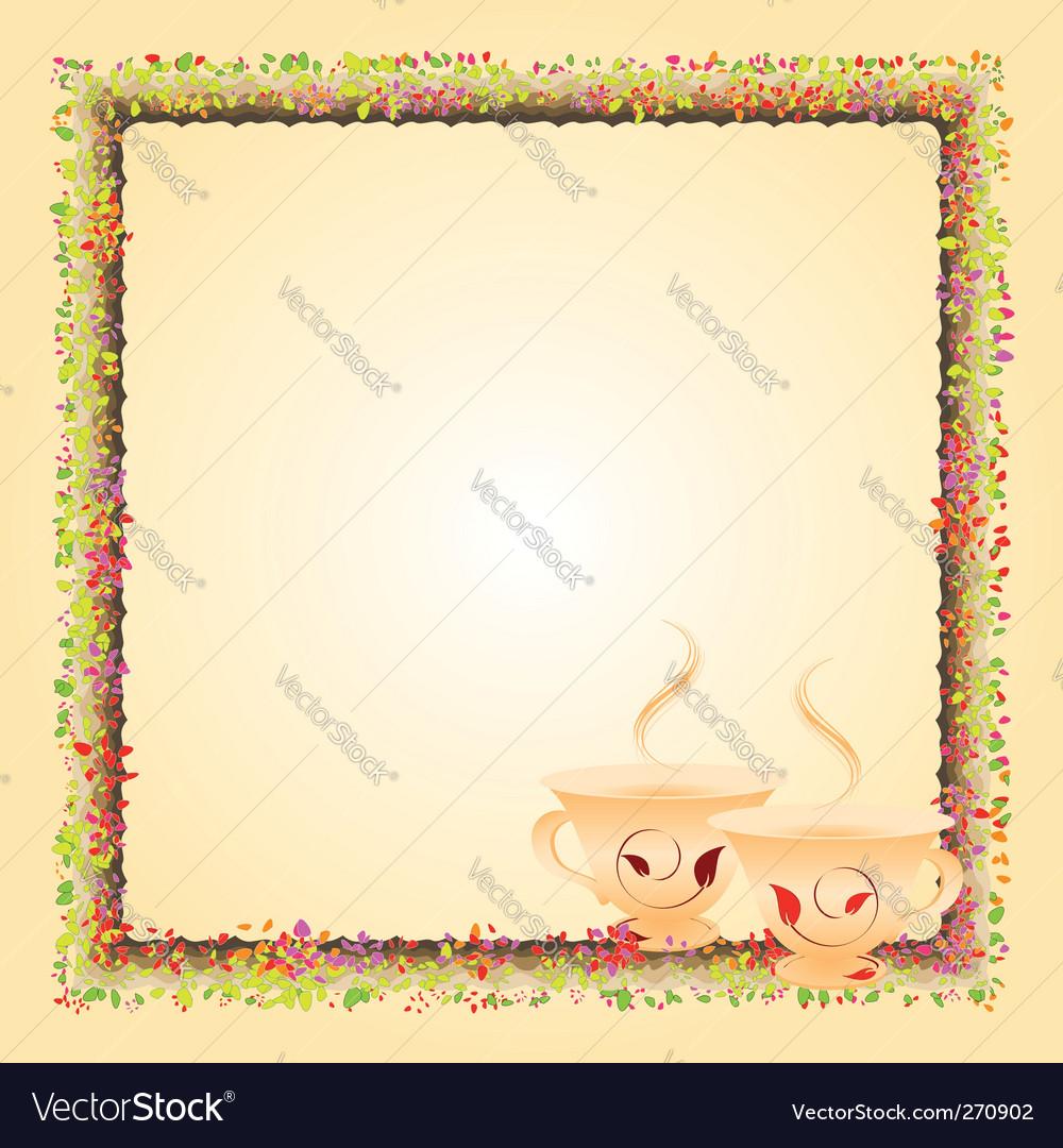 Tea time invitation card vector