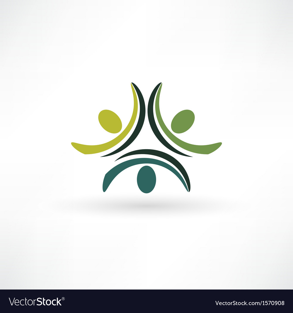 People connected symbol vector