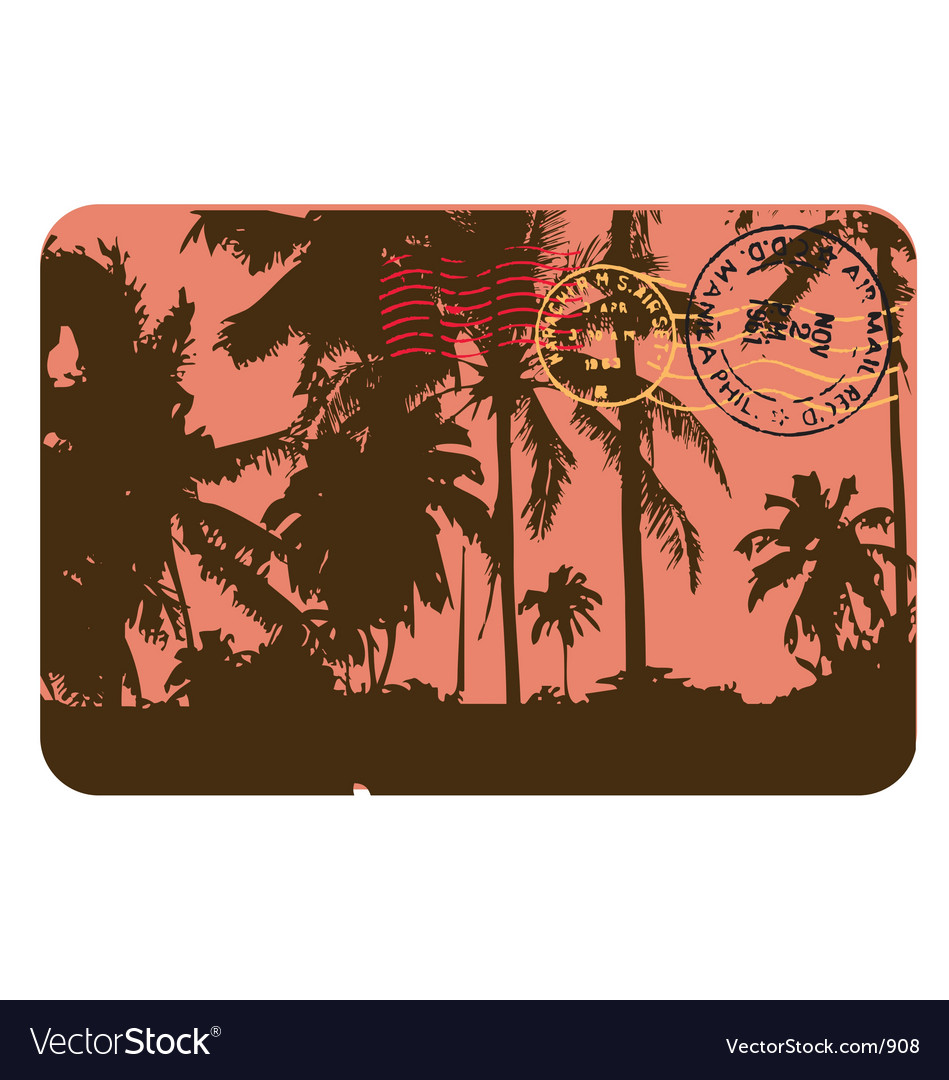 Free vintage postcard vector