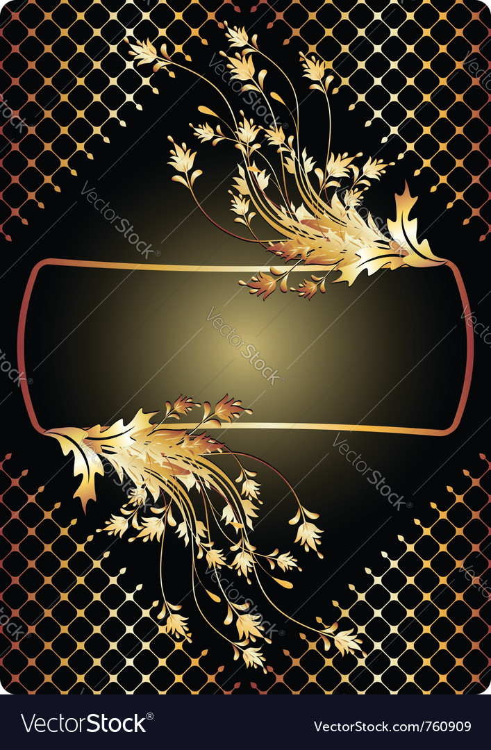 Golden ornament vector