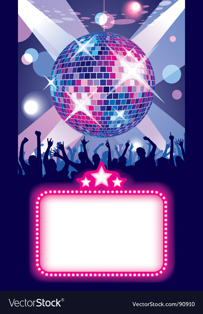 Disco Party Invitations with beautiful invitation design