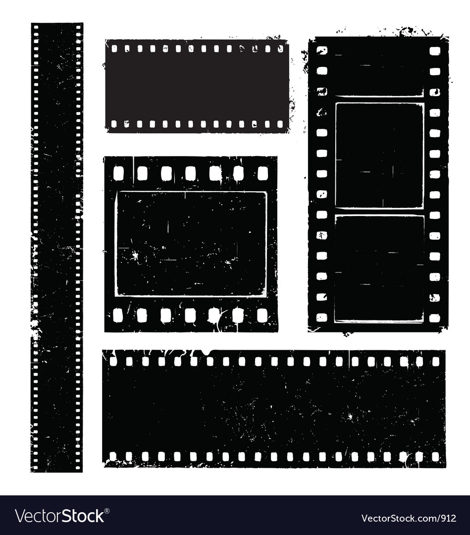 Free film strip grunge vector