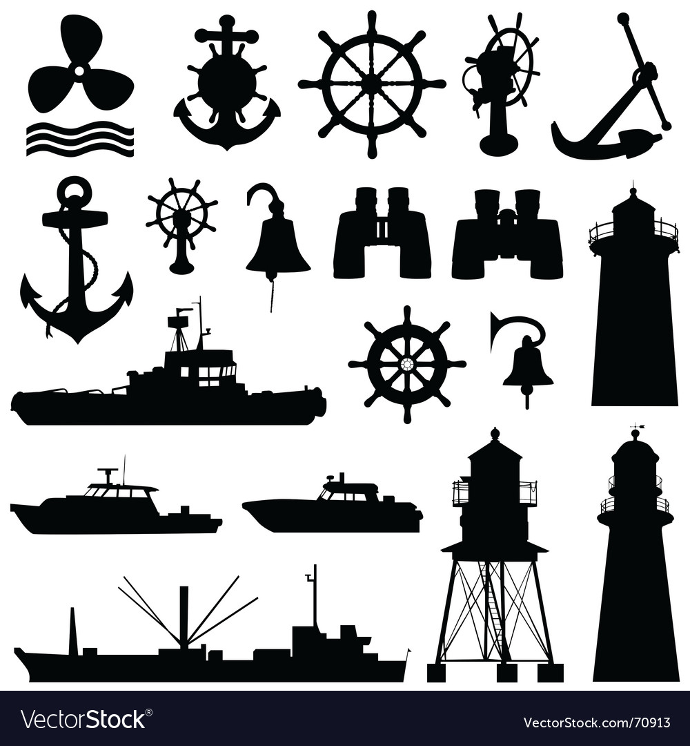 Nautical elements vector