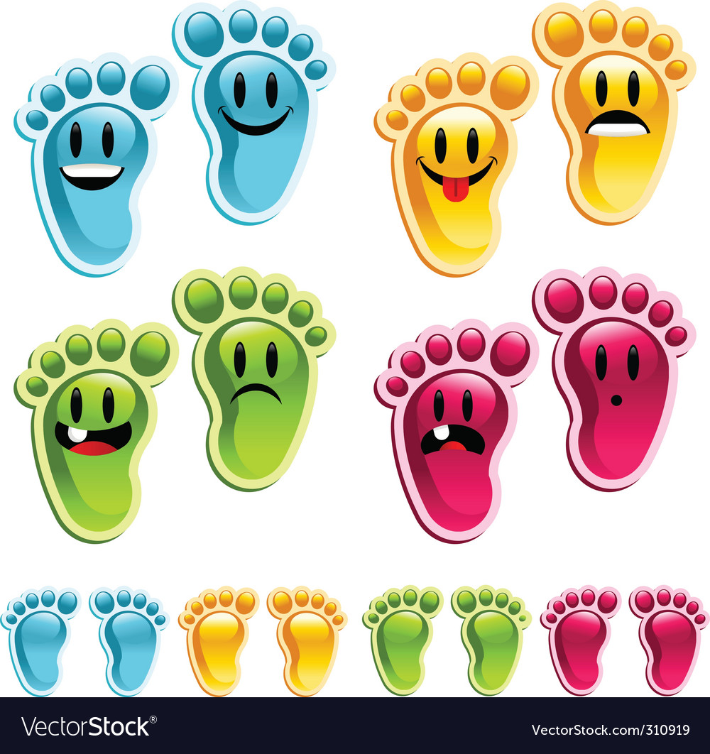 Smiley feet vector