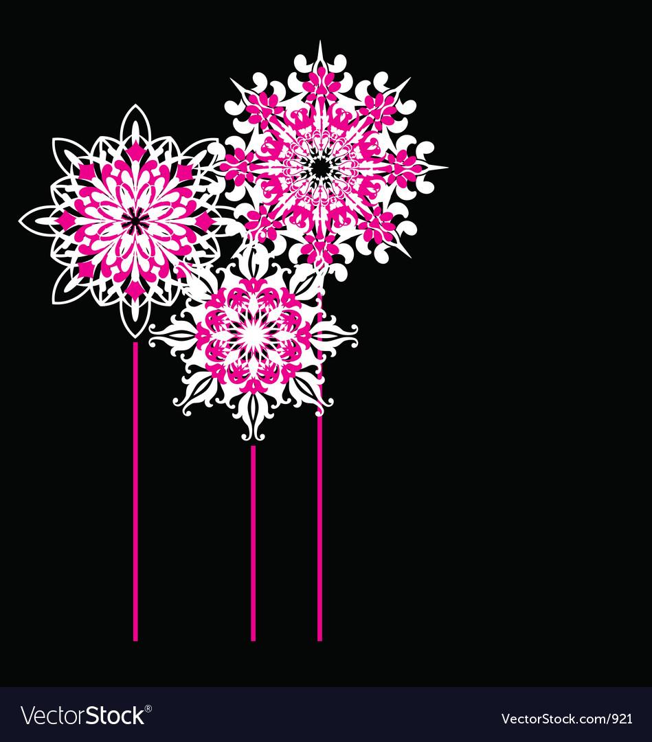 Free ornate flowers vector