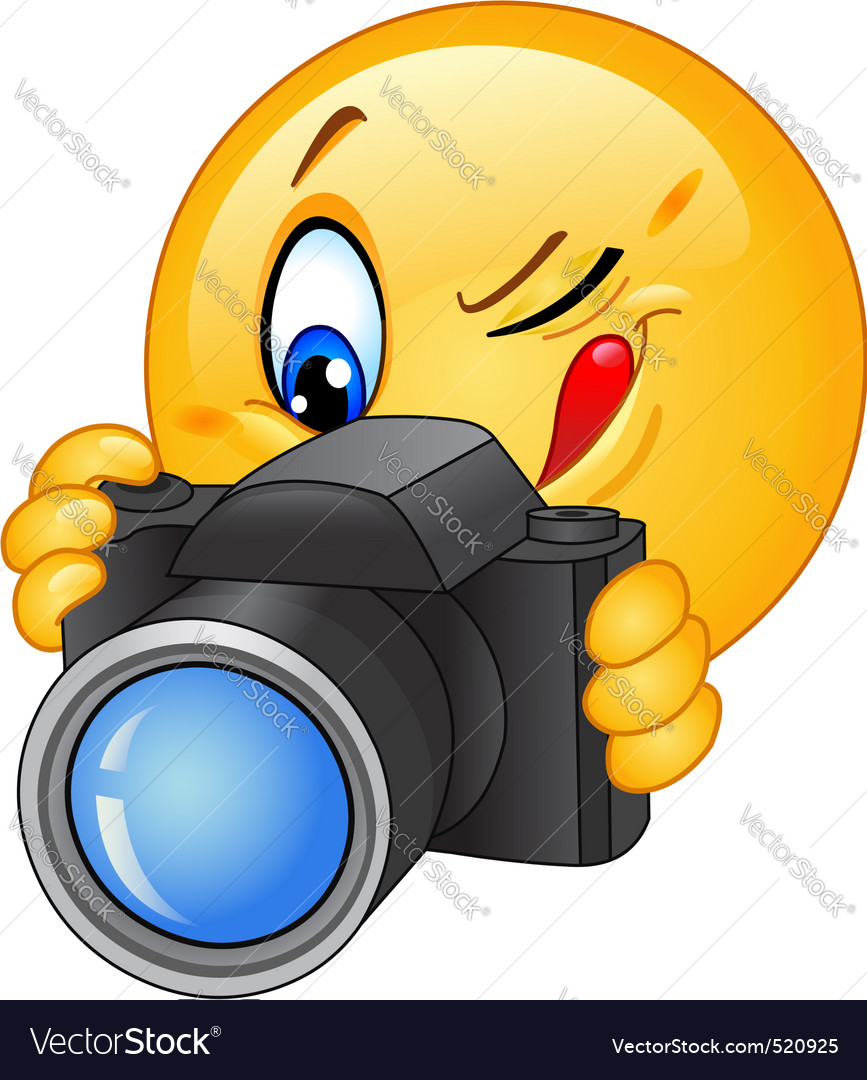 Camera emoticon vector