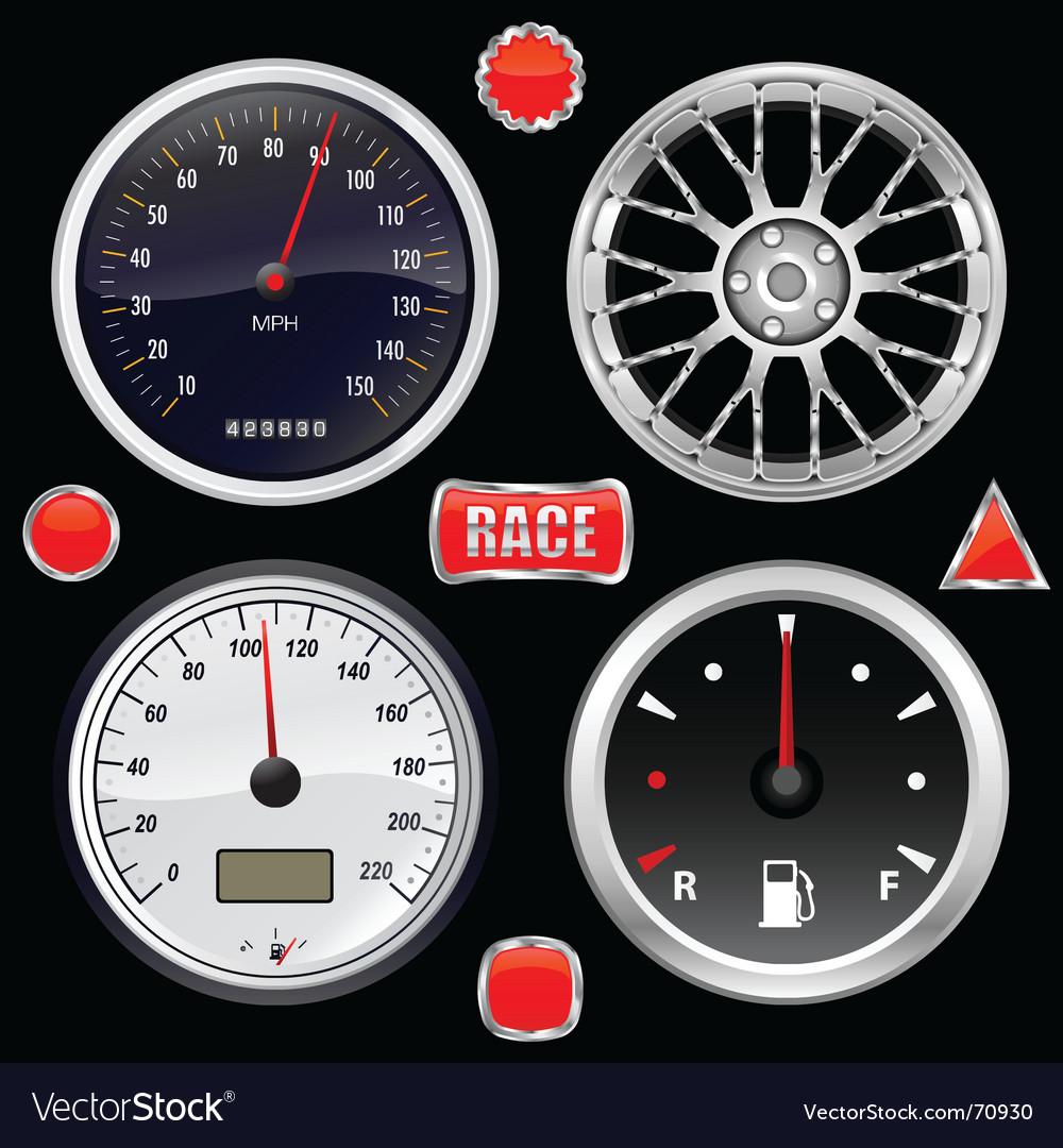 Car gauges vector