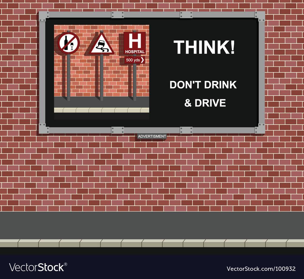 Bilboard sign vector