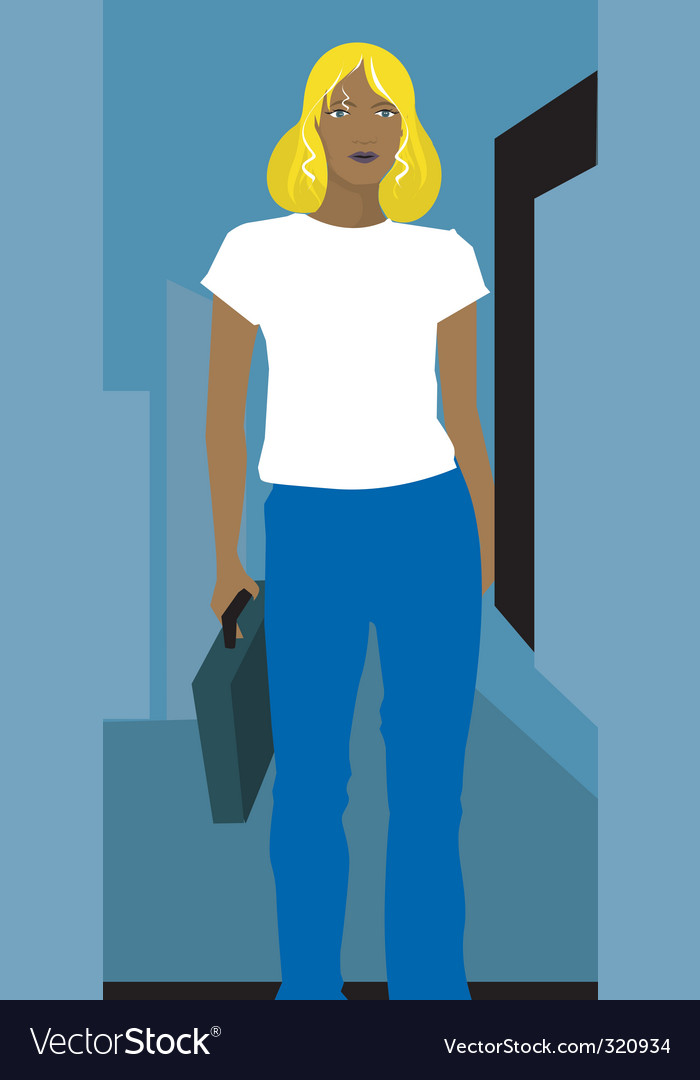 Businesswoman walking vector