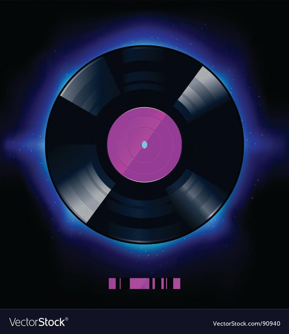 Vinyl disc vector