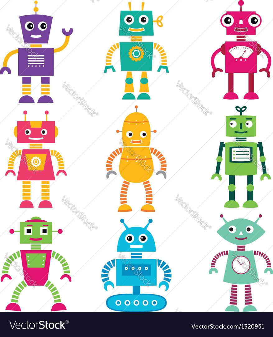 Robots set vector