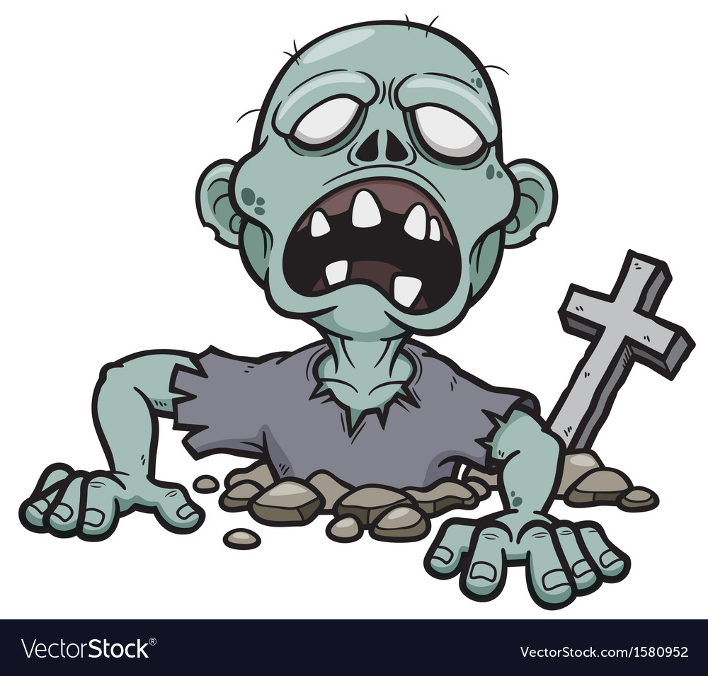 Cartoon zombie vector