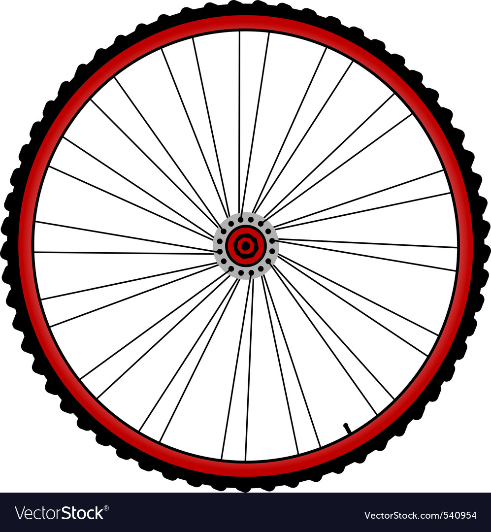 Bicycle wheels vector