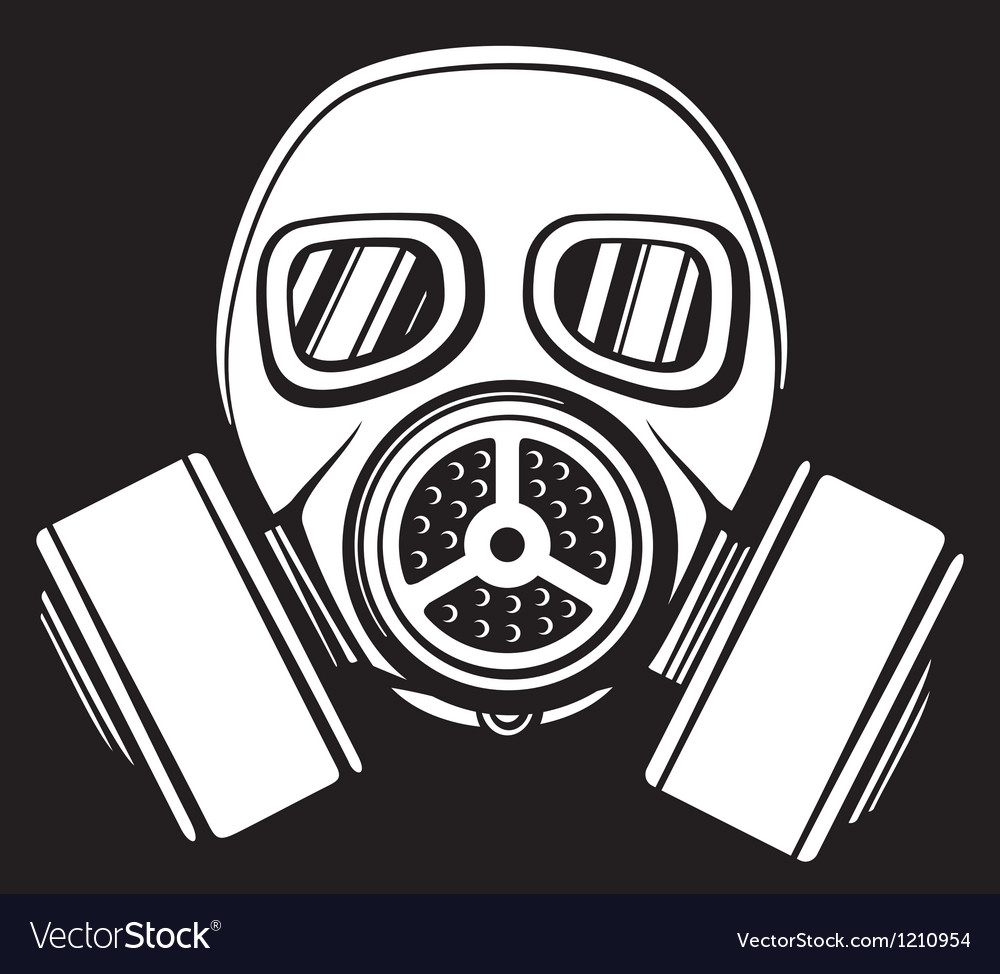 Gas Mask Silhouette Vector Gas mask vectorGas Mask Silhouette Vector