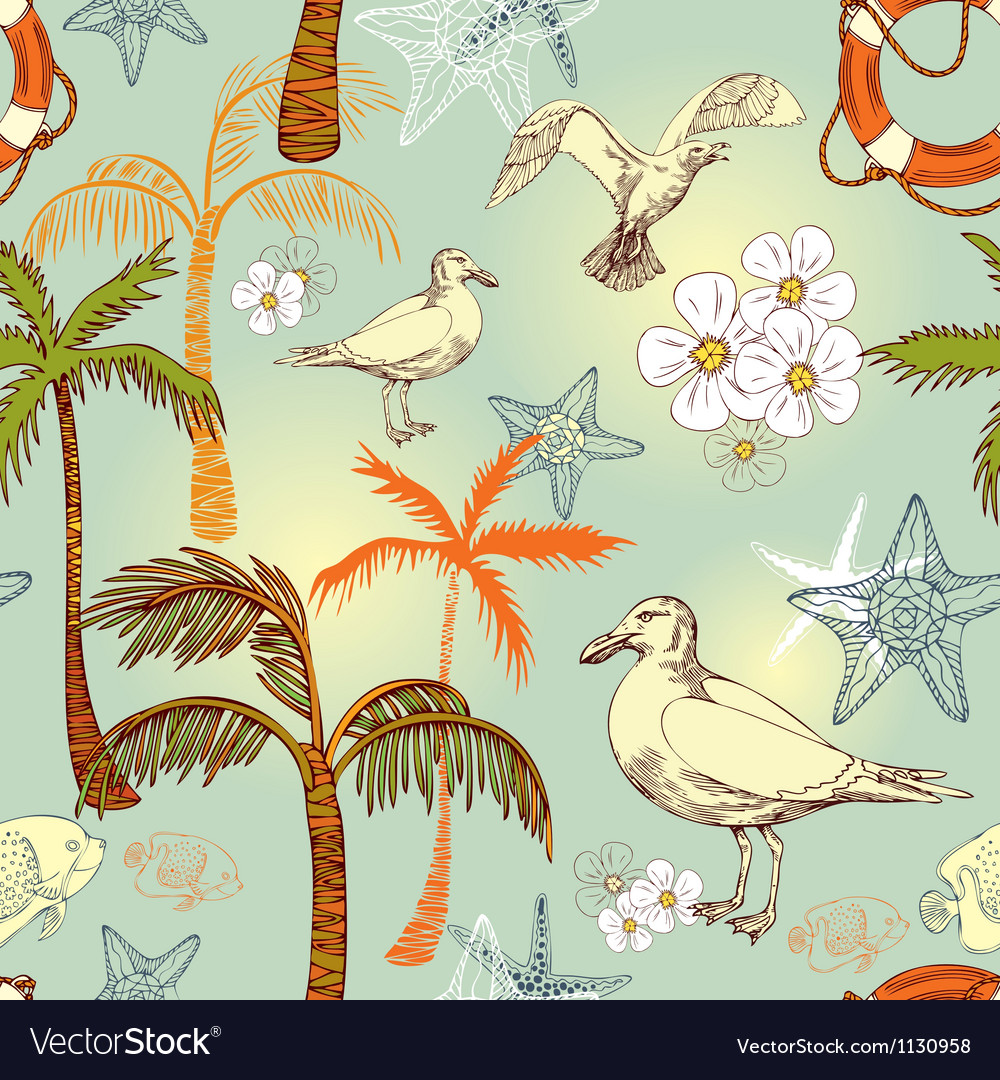 Abstract sea background beach exotic wallpaper vector