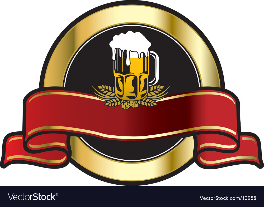 Beer fest label vector