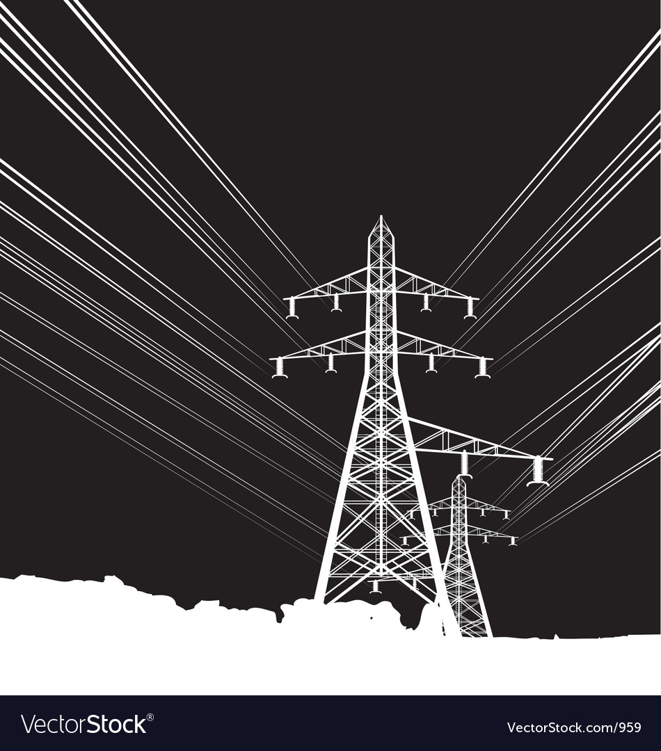 Free power lines vector