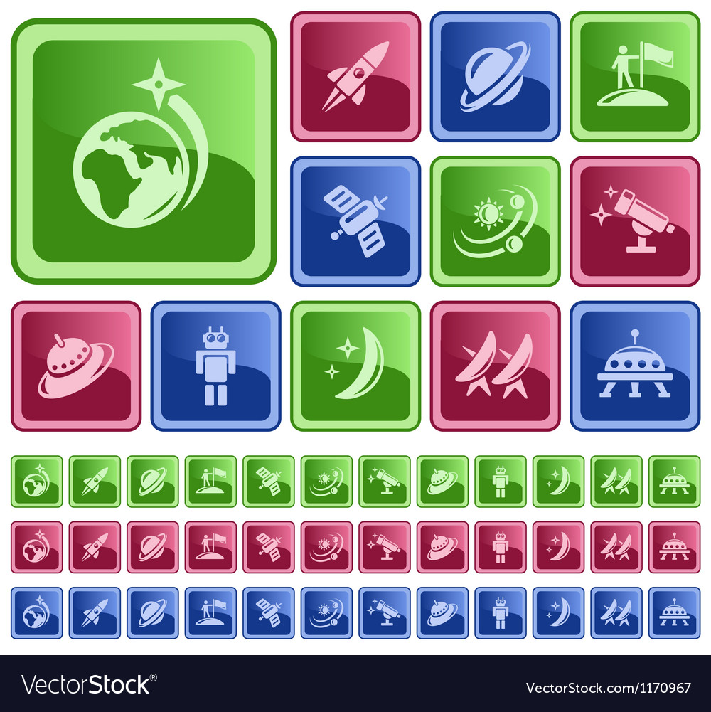 Space buttons vector