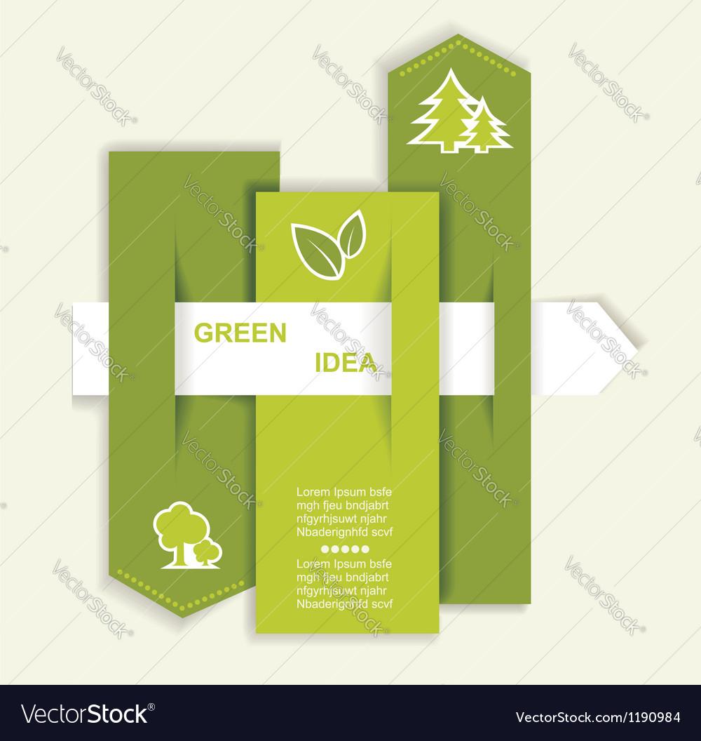 Grey-green website with arrow vector
