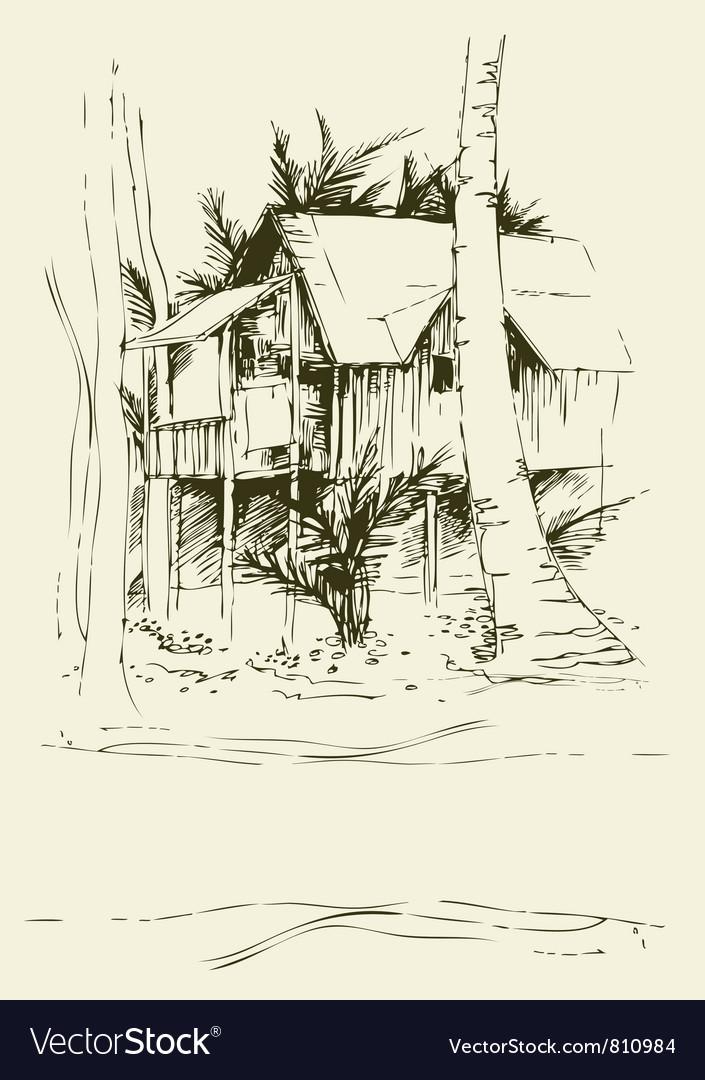 Tai bungalo vector