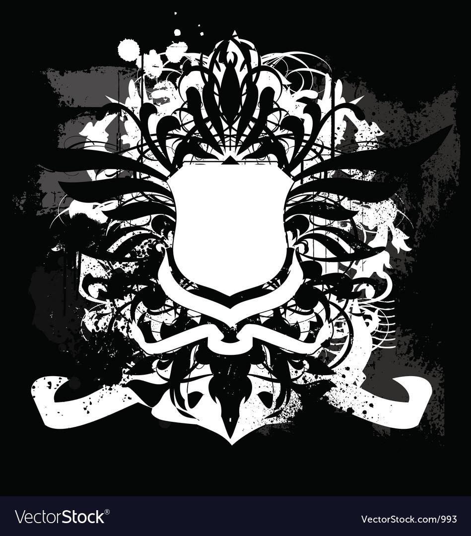 Free heraldry grunge shield  vector